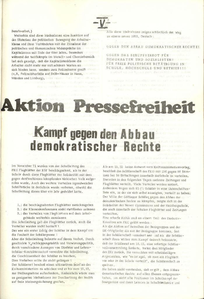 Schulkampf _ Organ der KSF, Göttingen, Nr. 1 [1972], Seite 5