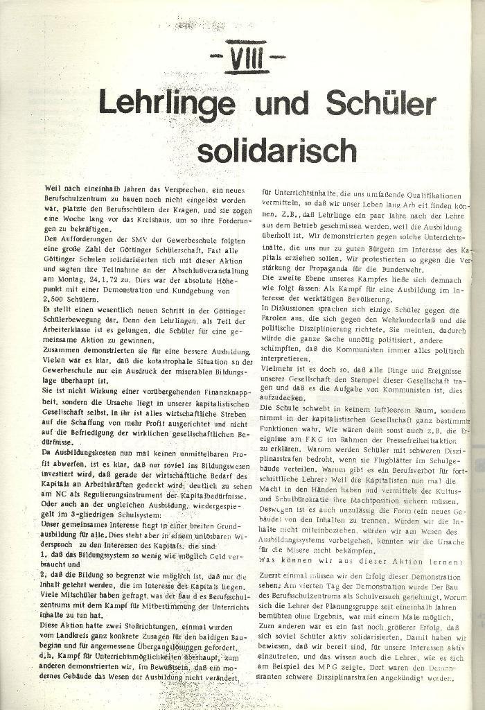 Schulkampf _ Organ der KSF, Göttingen, Nr. 1 [1972], Seite 8