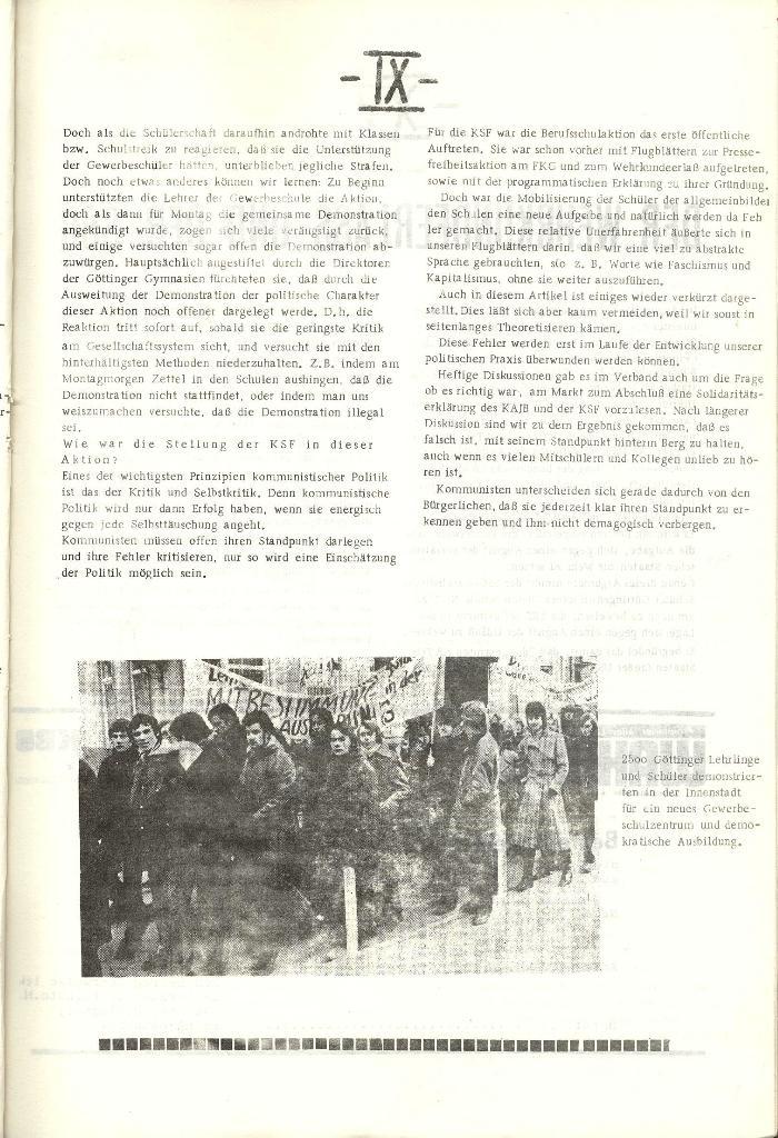 Schulkampf _ Organ der KSF, Göttingen, Nr. 1 [1972], Seite 9