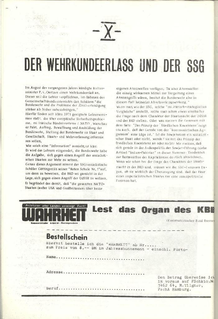 Schulkampf _ Organ der KSF, Göttingen, Nr. 1 [1972], Seite 10