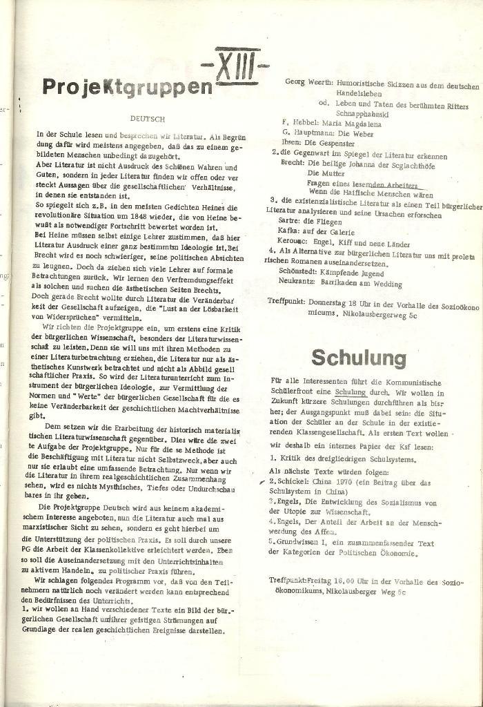 Schulkampf _ Organ der KSF, Göttingen, Nr. 1 [1972], Seite 13