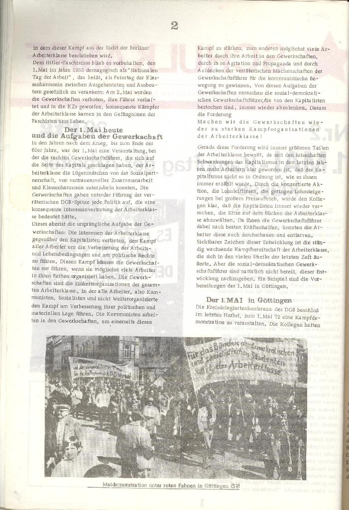 Schulkampf _ Organ der KSF, Göttingen, Nr. 2 [1972], Seite 2