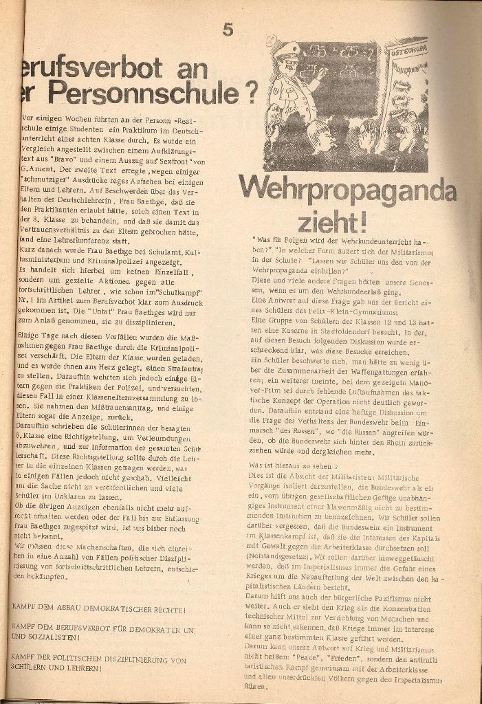 Schulkampf _ Organ der KSF, Göttingen, Nr. 2 [1972], Seite 5