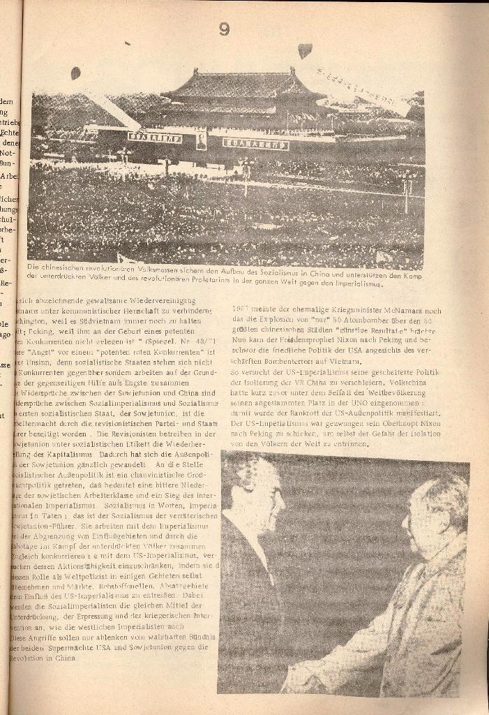 Schulkampf _ Organ der KSF, Göttingen, Nr. 2 [1972], Seite 9
