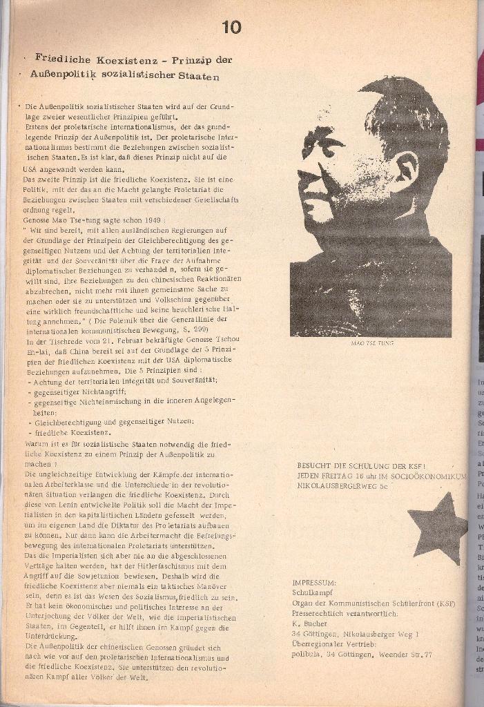 Schulkampf _ Organ der KSF, Göttingen, Nr. 2 [1972], Seite 10