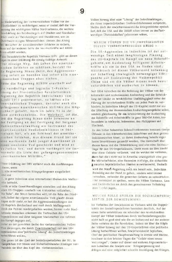 Schulkampf _ Organ der KSF, Göttingen, Nr. 3 [1972], Seite 9