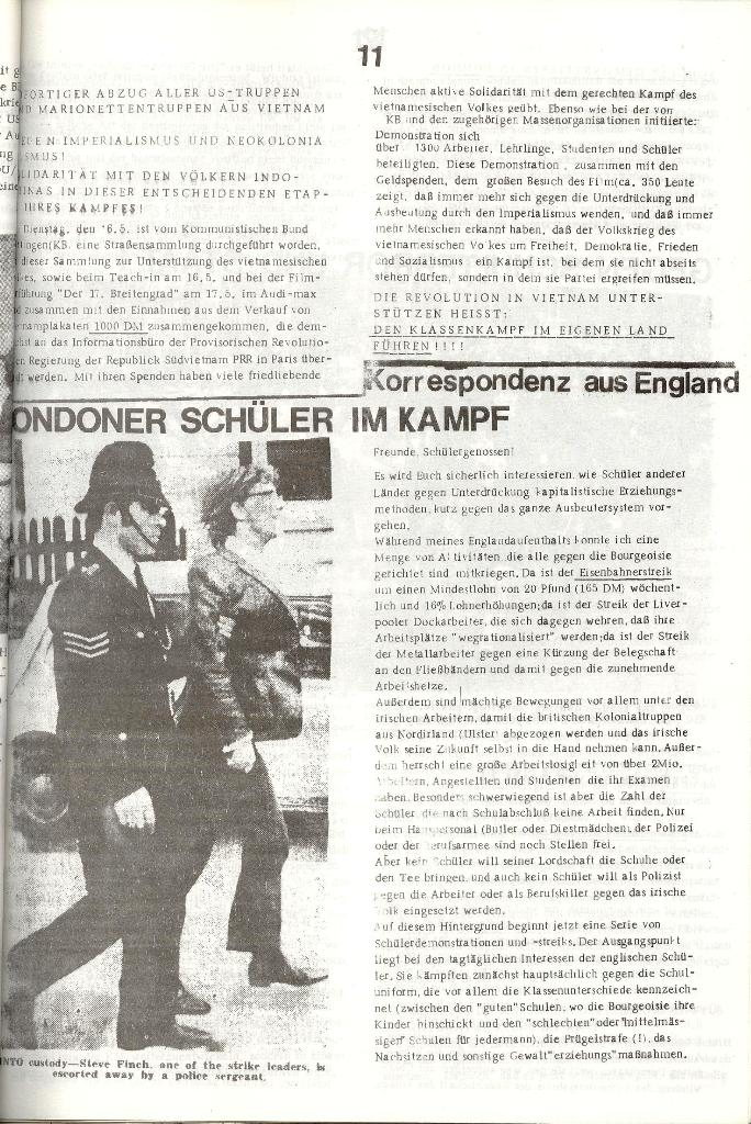 Schulkampf _ Organ der KSF, Göttingen, Nr. 3 [1972], Seite 11