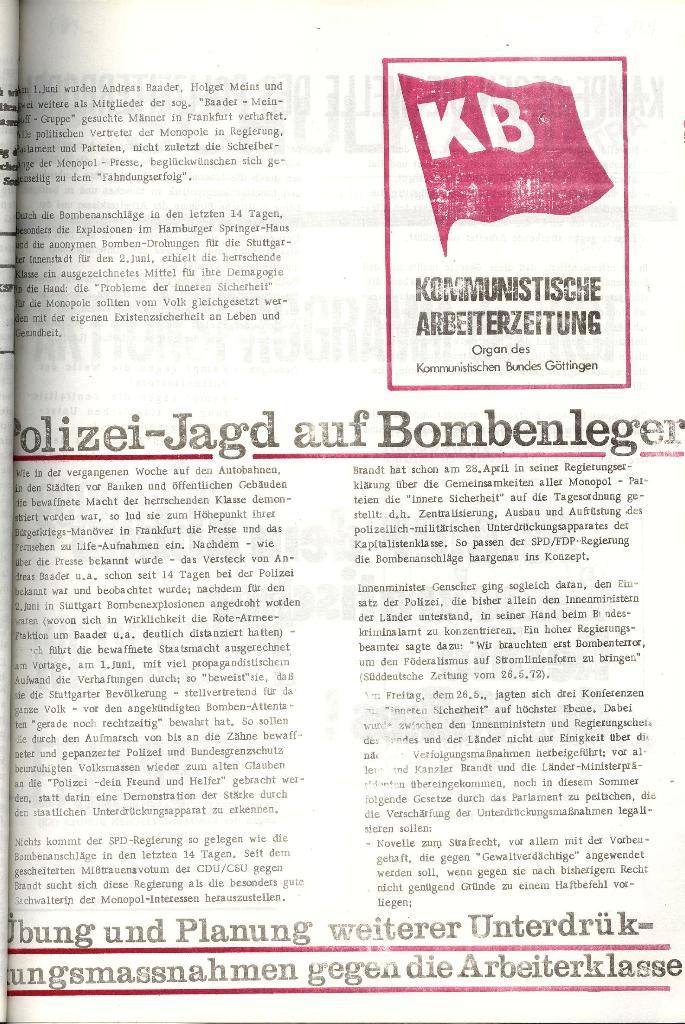KAZ_Flugblatt: Polizei_Jagd auf Bombenleger, Seite 1