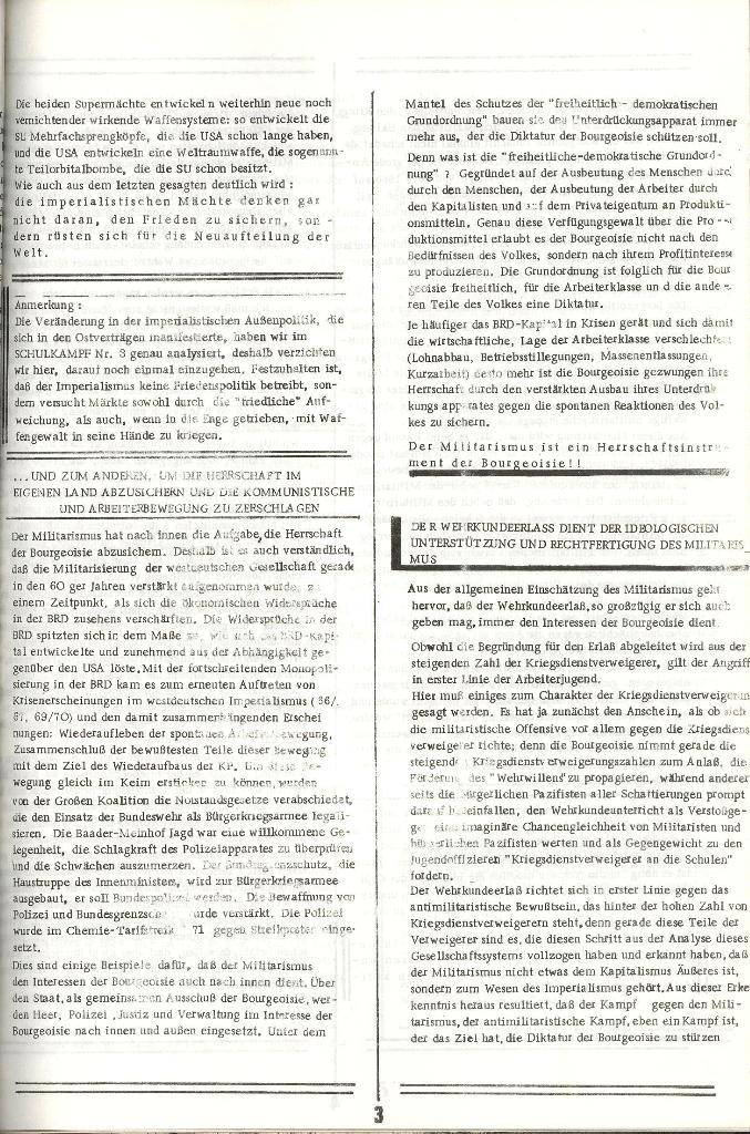 Schulkampf _ Organ der KSF, Göttingen, Extra zum WKE [Juni 1972], Seite 3