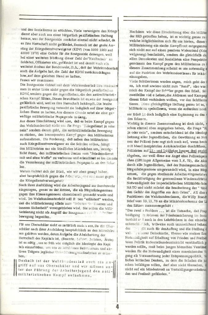 Schulkampf _ Organ der KSF, Göttingen, Extra zum WKE [Juni 1972], Seite 4