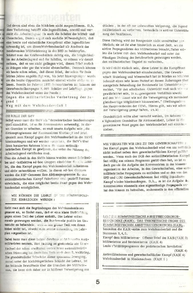 Schulkampf _ Organ der KSF, Göttingen, Extra zum WKE [Juni 1972], Seite 5
