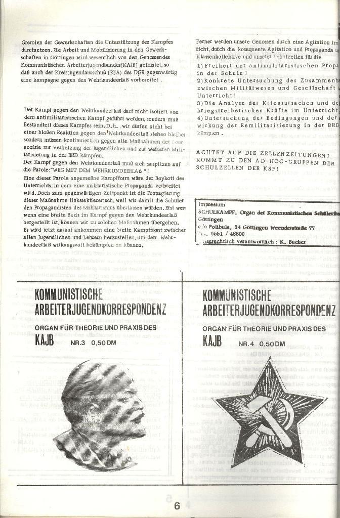 Schulkampf _ Organ der KSF, Göttingen, Extra zum WKE [Juni 1972], Seite 6