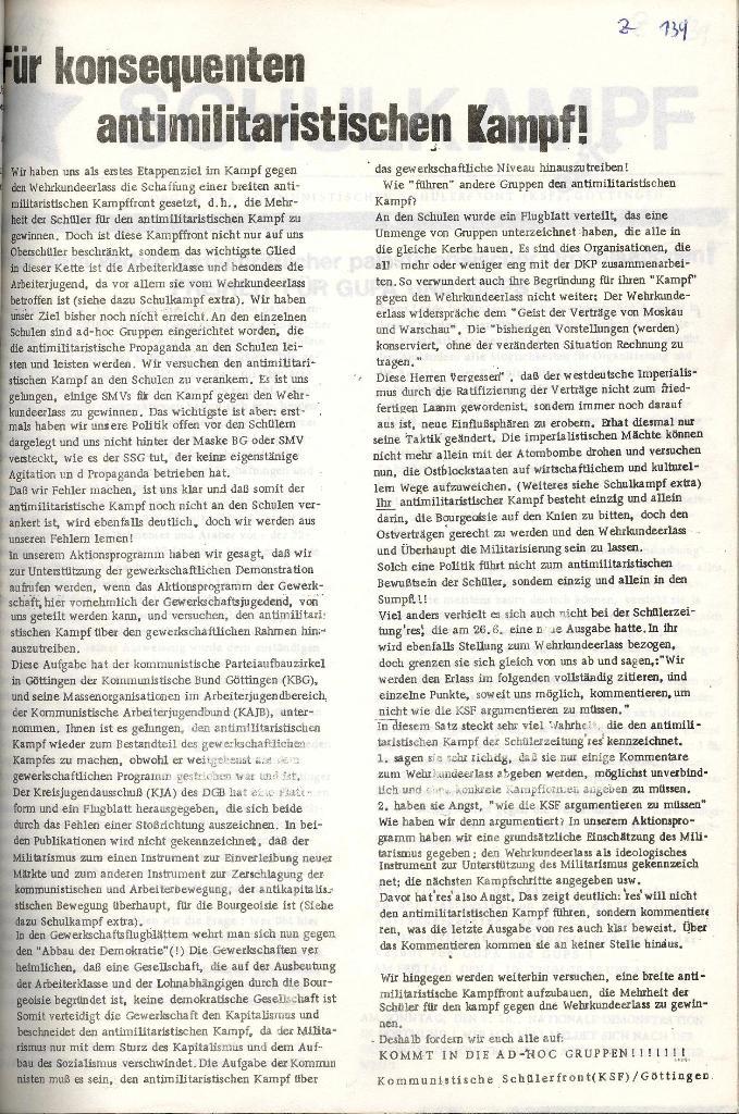 Schulkampf _ Organ der KSF, Göttingen, Extra zum GUPS/GUPA_Verbot [Okt. 1972], Seite 2