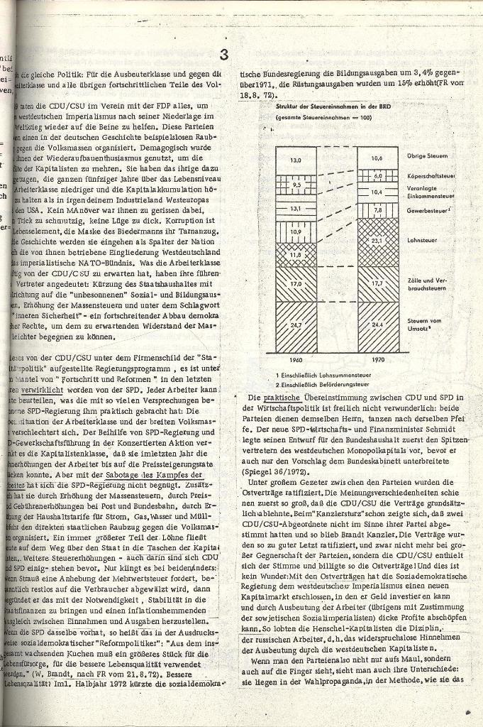 Schulkampf _ Organ der KSF, Göttingen, Extra zu Neuwahlen [Nov. 1972], Seite 3