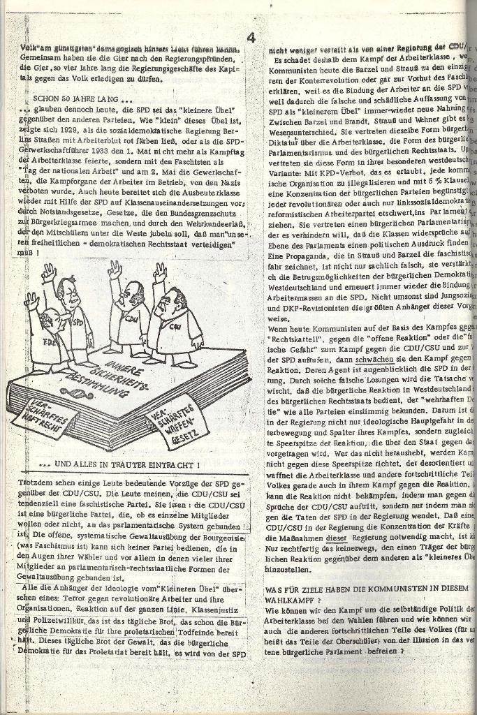 Schulkampf _ Organ der KSF, Göttingen, Extra zu Neuwahlen [Nov. 1972], Seite 4