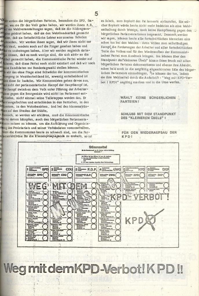 Schulkampf _ Organ der KSF, Göttingen, Extra zu Neuwahlen [Nov. 1972], Seite 5