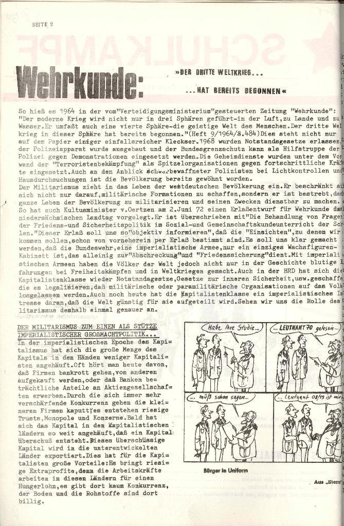 Schulkampf _ Organ der KSF, Göttingen, Nr. 4 [1973], Seite 2