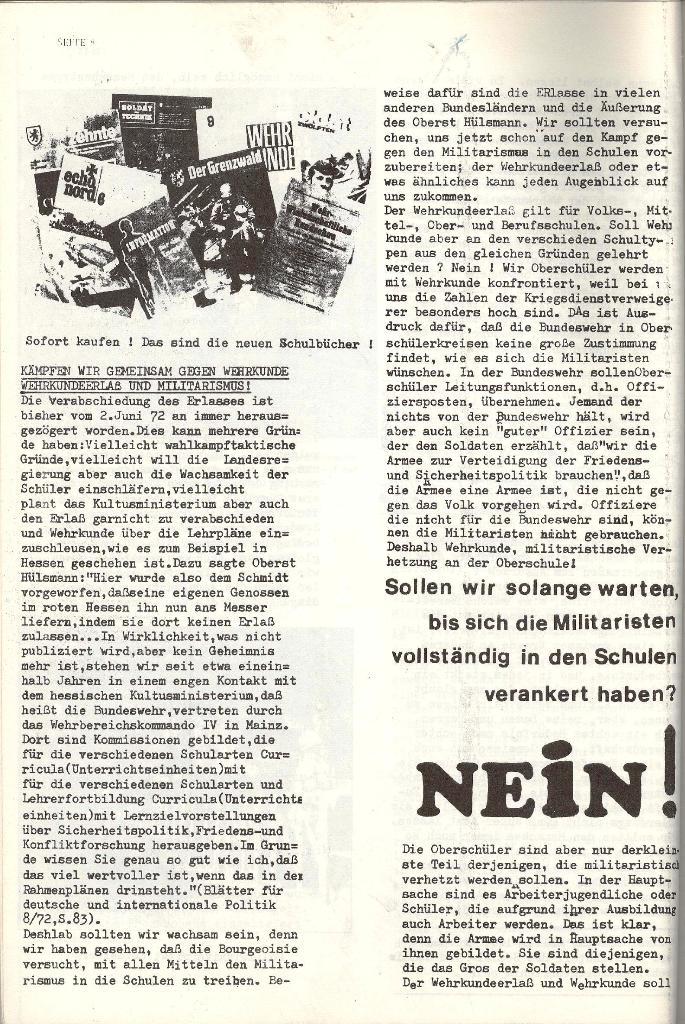 Schulkampf _ Organ der KSF, Göttingen, Nr. 4 [1973], Seite 8