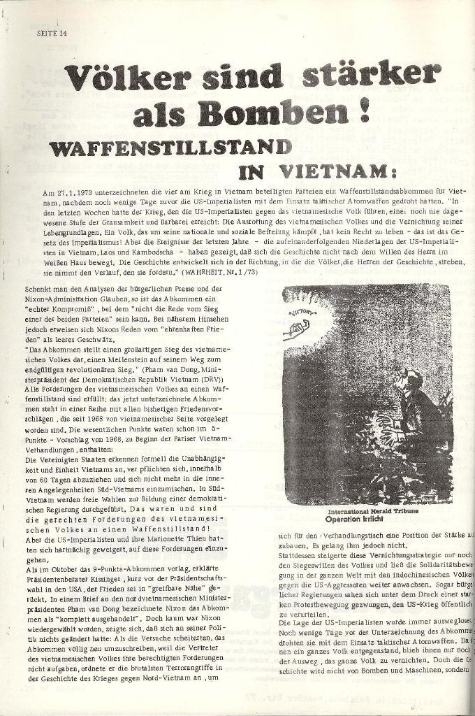 Schulkampf _ Organ der KSF, Göttingen, Nr. 4 [1973], Seite 14