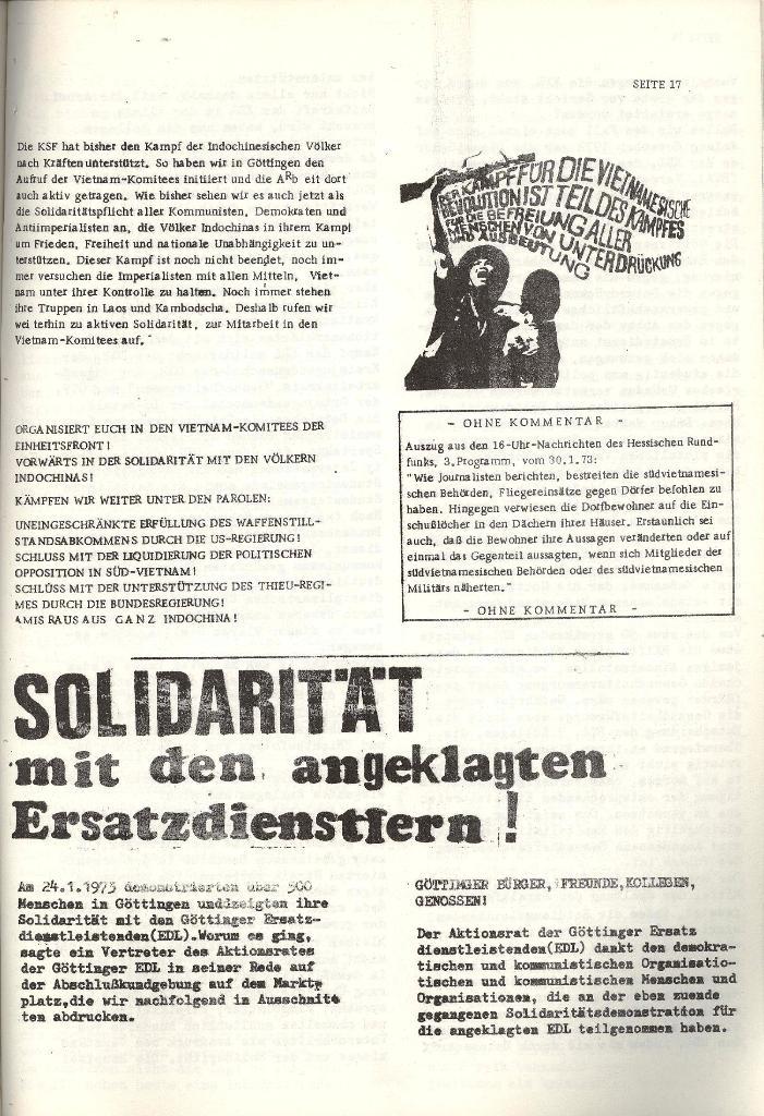 Schulkampf _ Organ der KSF, Göttingen, Nr. 4 [1973], Seite 17