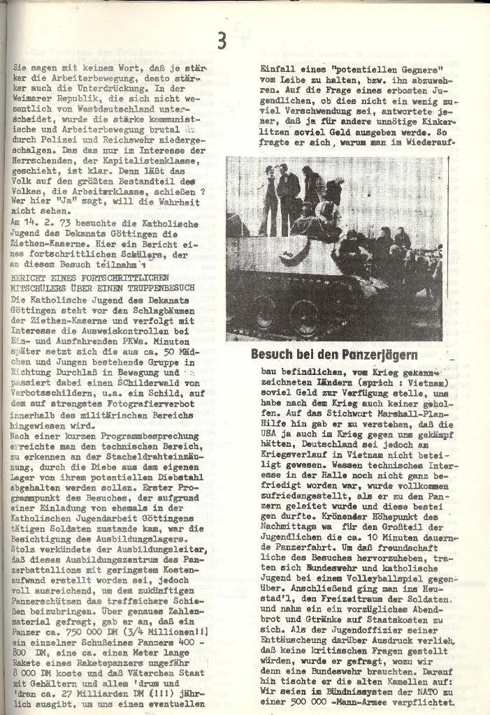 Schulkampf _ Organ der KSF, Göttingen, Extra zur militärischen Verhetzung [1973], Seite 3