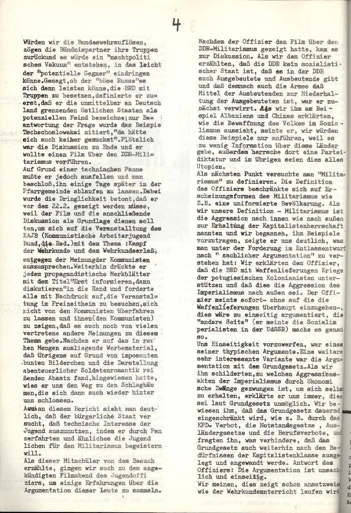 Schulkampf _ Organ der KSF, Göttingen, Extra zur militärischen Verhetzung [1973], Seite 4
