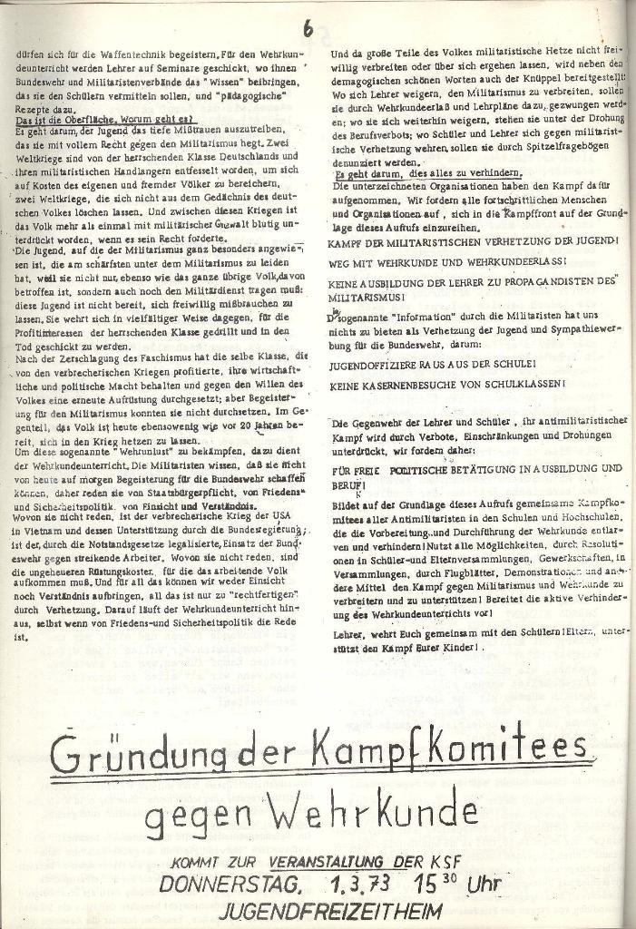 Schulkampf _ Organ der KSF, Göttingen, Extra zur militärischen Verhetzung [1973], Seite 6