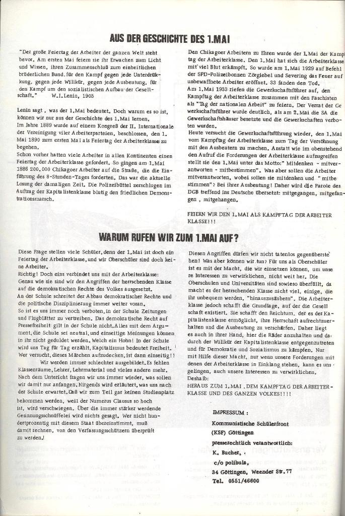 Schulkampf _ Organ der KSF, Göttingen, Extra zum 1. Mai [1973], Seite 4