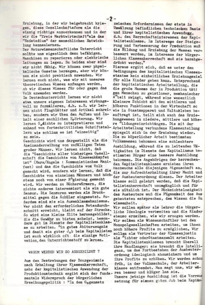 Schulkampf _ Organ der KSF, Göttingen, Nr. 5, 1973, Seite 2