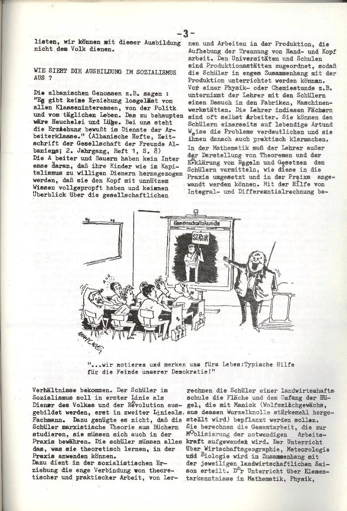 Schulkampf _ Organ der KSF, Göttingen, Nr. 5, 1973, Seite 3