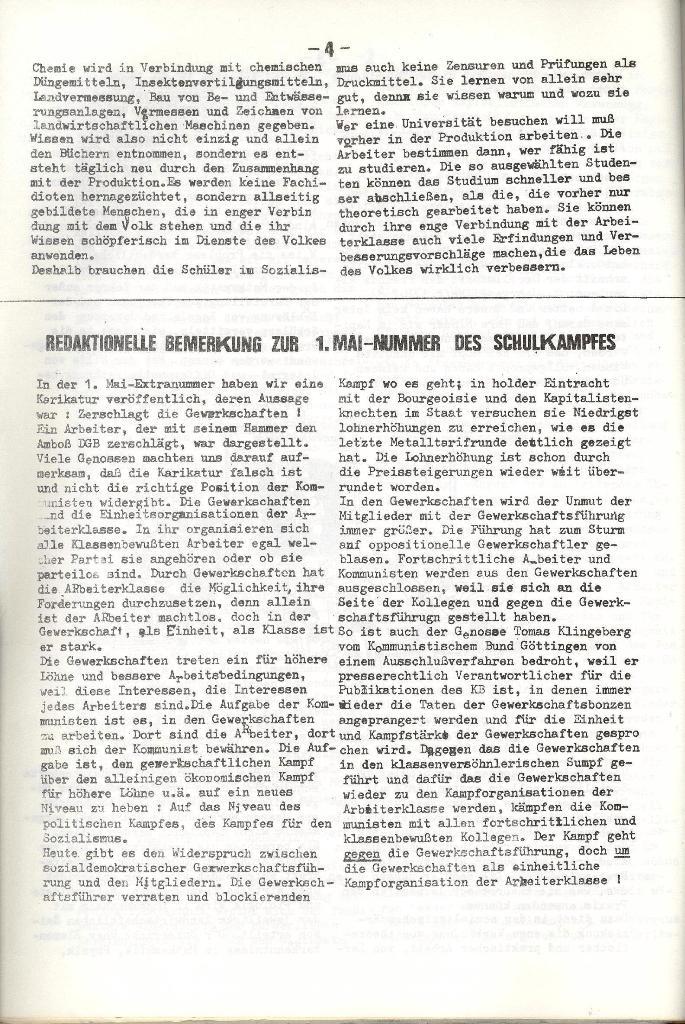 Schulkampf _ Organ der KSF, Göttingen, Nr. 5, 1973, Seite 4