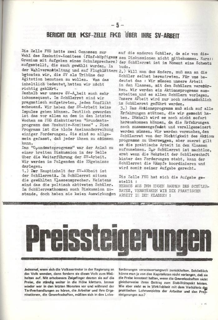 Schulkampf _ Organ der KSF, Göttingen, Nr. 5, 1973, Seite 5