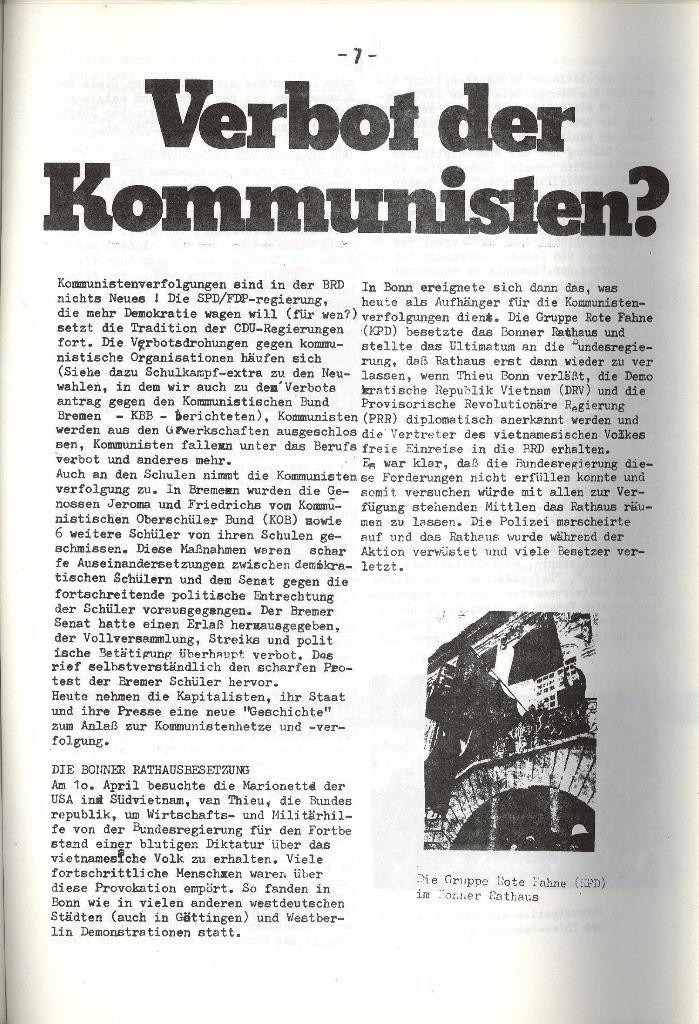 Schulkampf _ Organ der KSF, Göttingen, Nr. 5, 1973, Seite 7