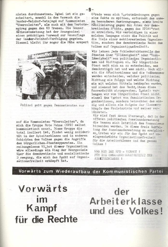 Schulkampf _ Organ der KSF, Göttingen, Nr. 5, 1973, Seite 9
