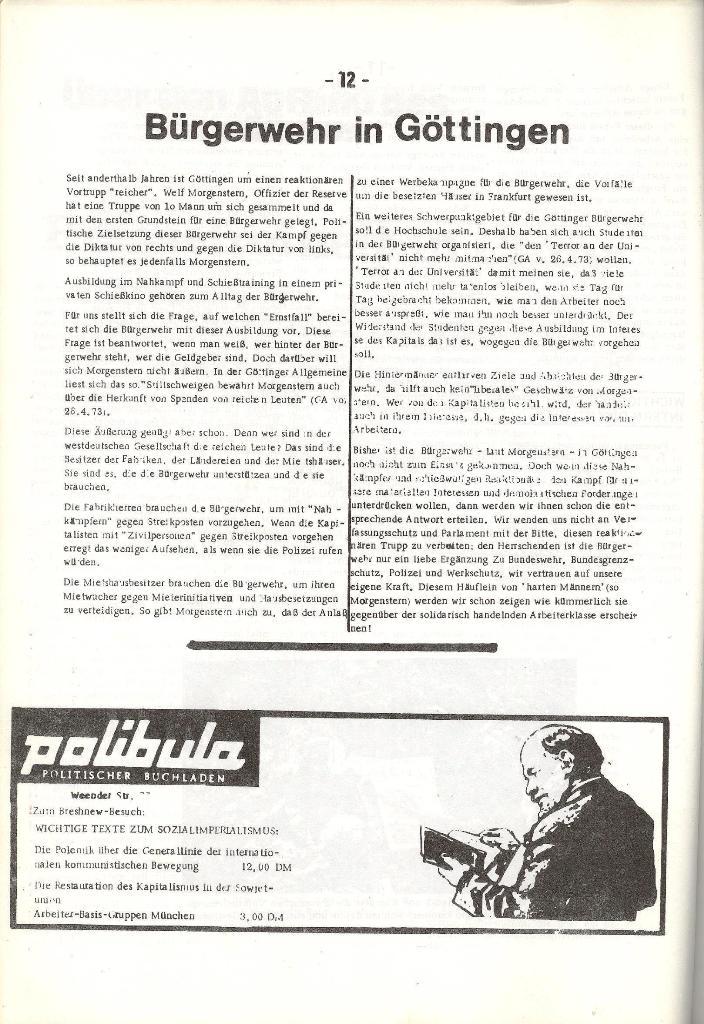 Schulkampf _ Organ der KSF, Göttingen, Nr. 5, 1973, Seite 12