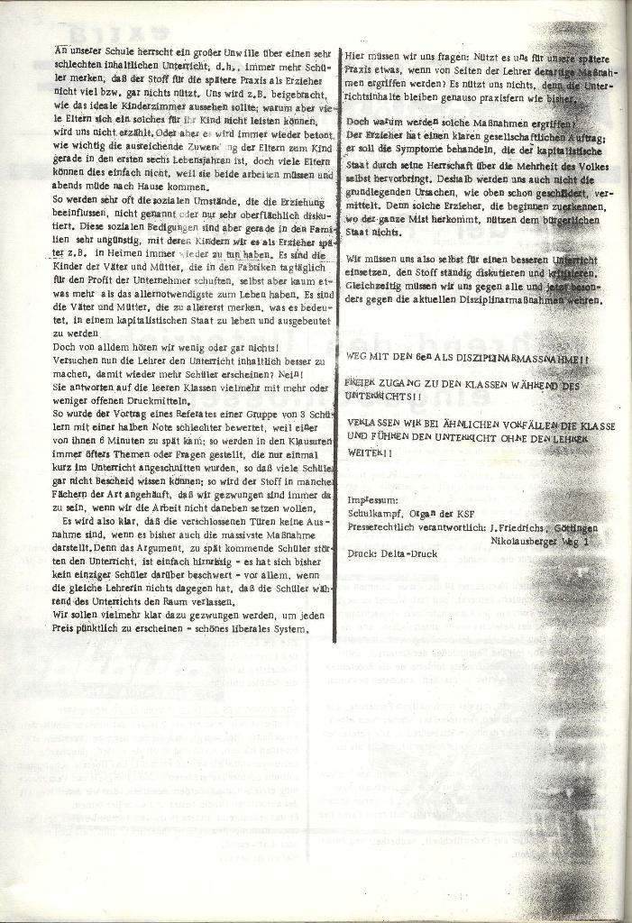 Schulkampf _ Organ der KSF, Göttingen, Extra vom 28.6.73, Seite 2