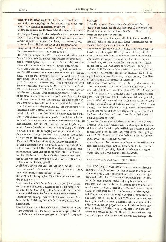 Schulkampf _ Organ der KSF, Göttingen, Nr. 6, 13.11.1973, Seite 2