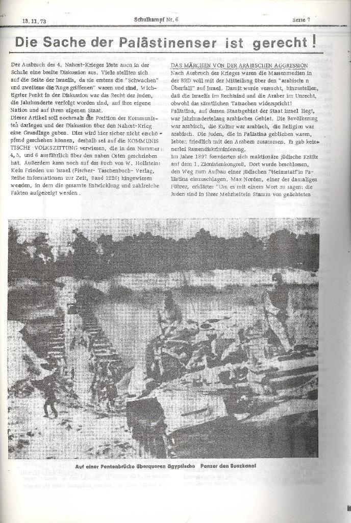 Schulkampf _ Organ der KSF, Göttingen, Nr. 6, 13.11.1973, Seite 7