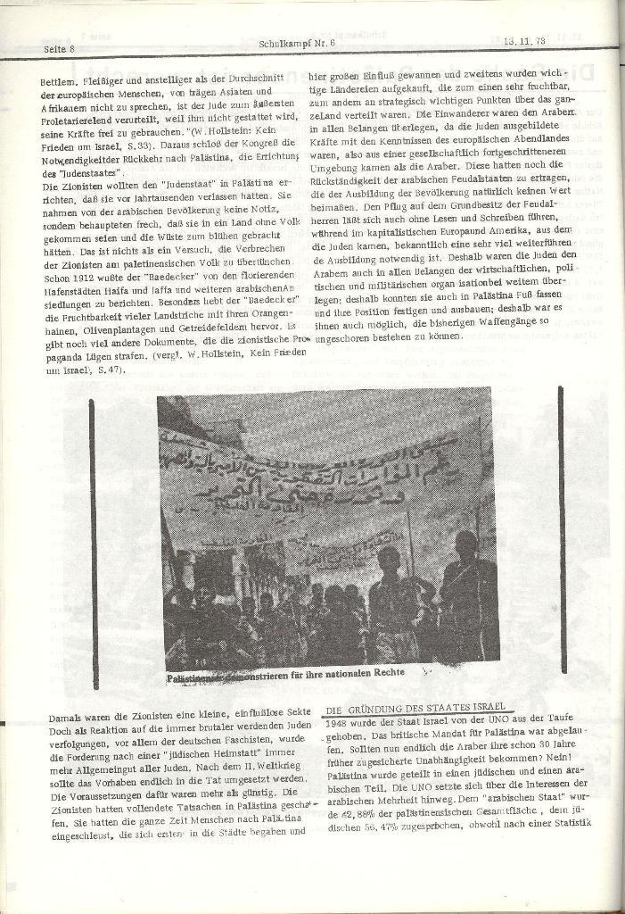 Schulkampf _ Organ der KSF, Göttingen, Nr. 6, 13.11.1973, Seite 8