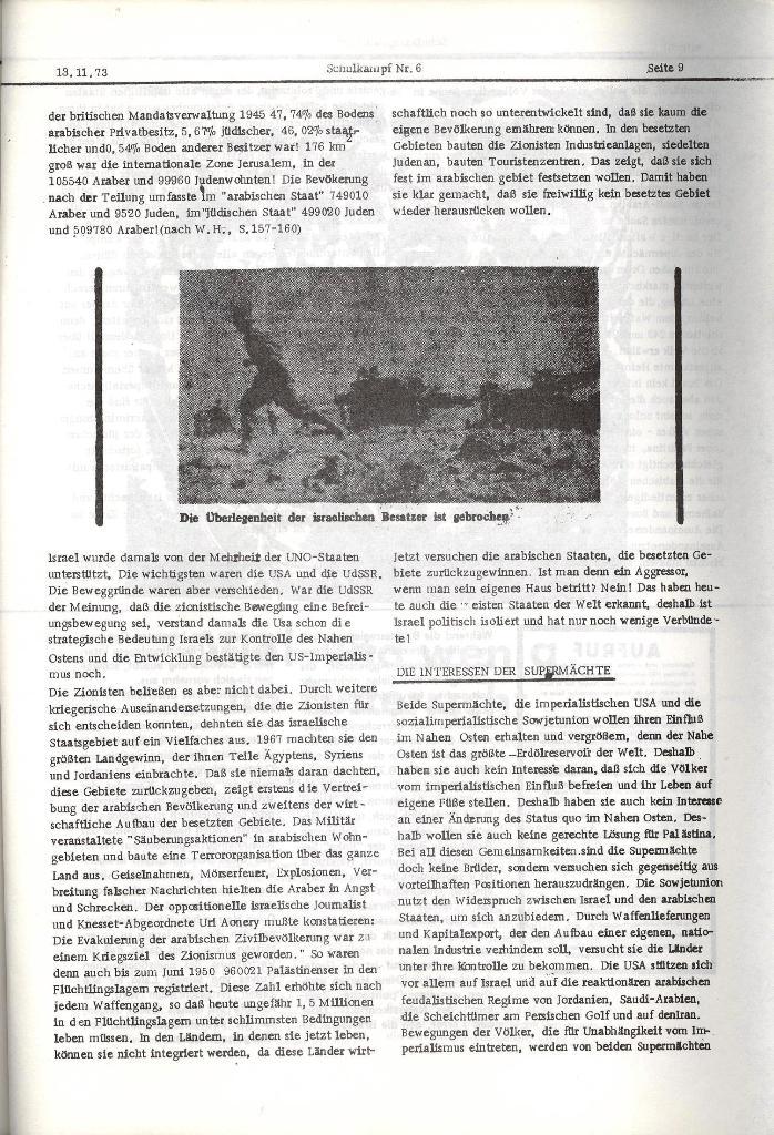 Schulkampf _ Organ der KSF, Göttingen, Nr. 6, 13.11.1973, Seite 9