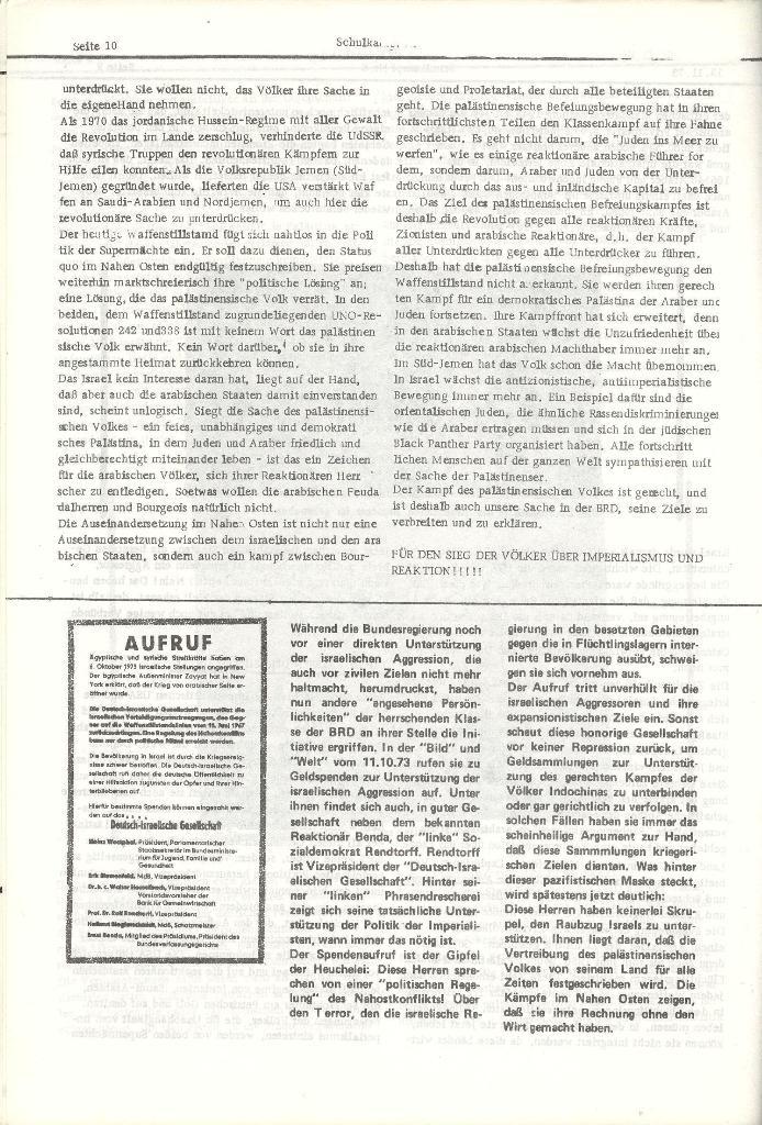 Schulkampf _ Organ der KSF, Göttingen, Nr. 6, 13.11.1973, Seite 10