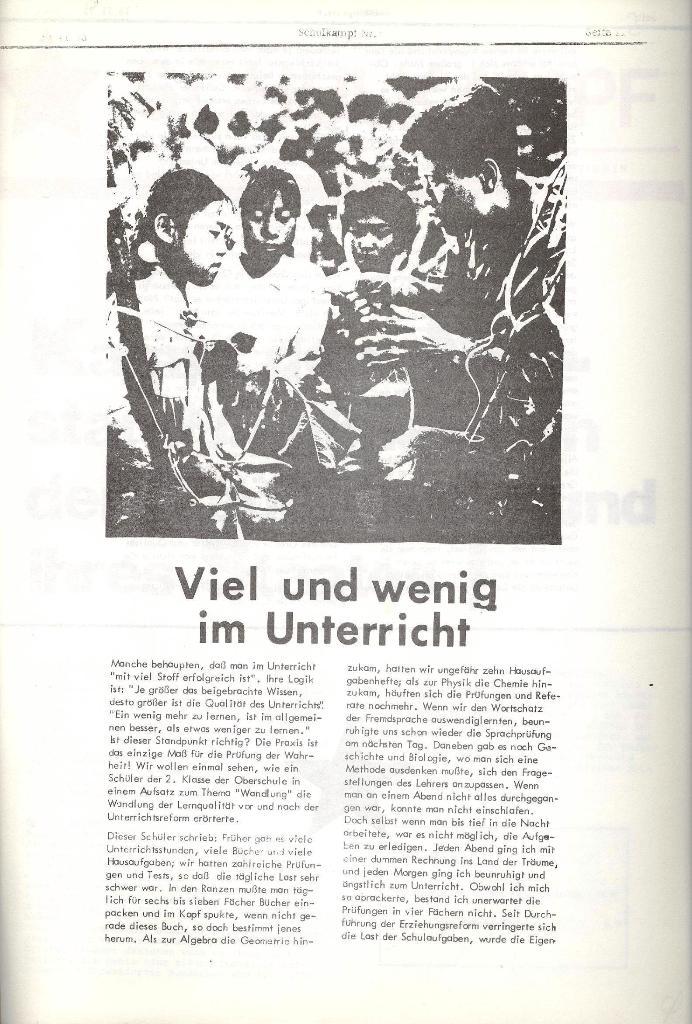 Schulkampf _ Organ der KSF, Göttingen, Nr. 6, 13.11.1973, Seite 11