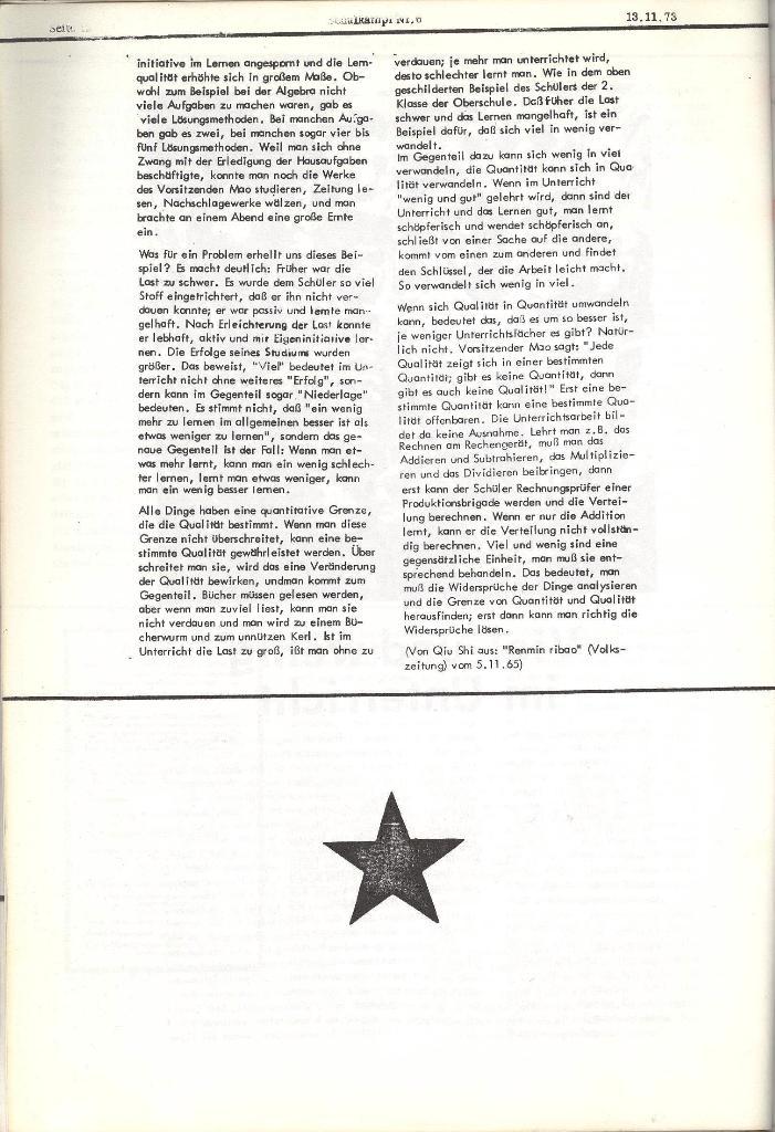 Schulkampf _ Organ der KSF, Göttingen, Nr. 6, 13.11.1973, Seite 12