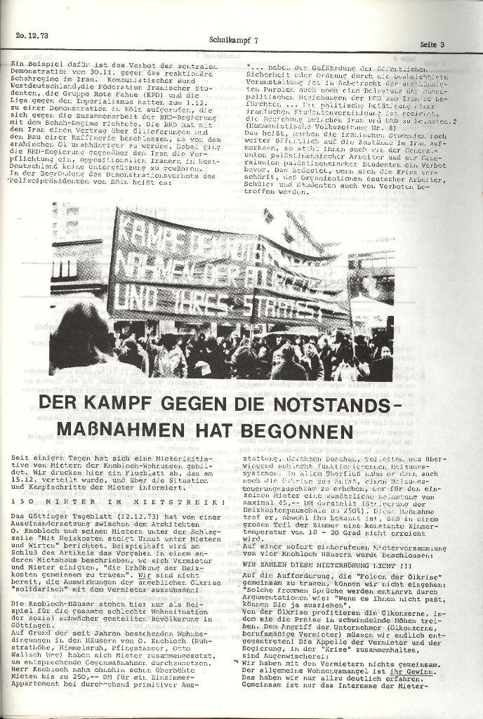 Schulkampf _ Organ der KSF, Göttingen, Nr. 7, 20.12.1973, Seite 3
