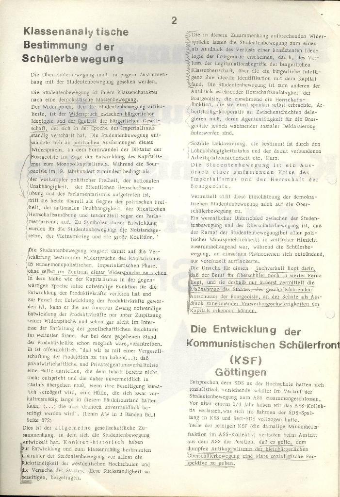 Programmatische Erklärung der KSF,Göttingen, 23.11.1971, Seite 2