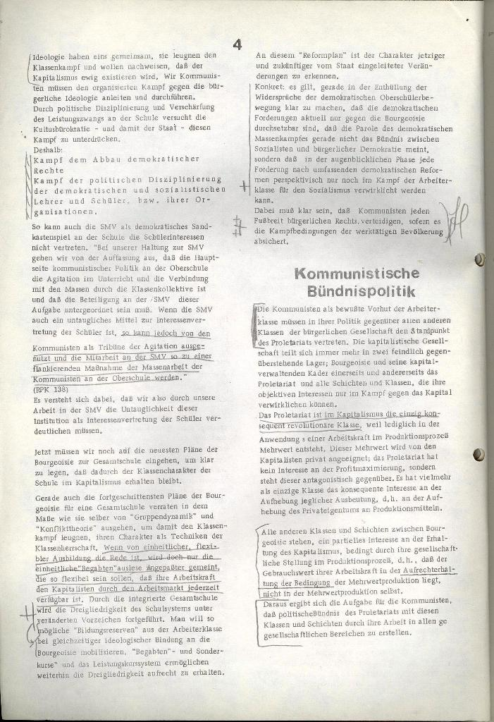 Programmatische Erklärung der KSF,Göttingen, 23.11.1971, Seite 4