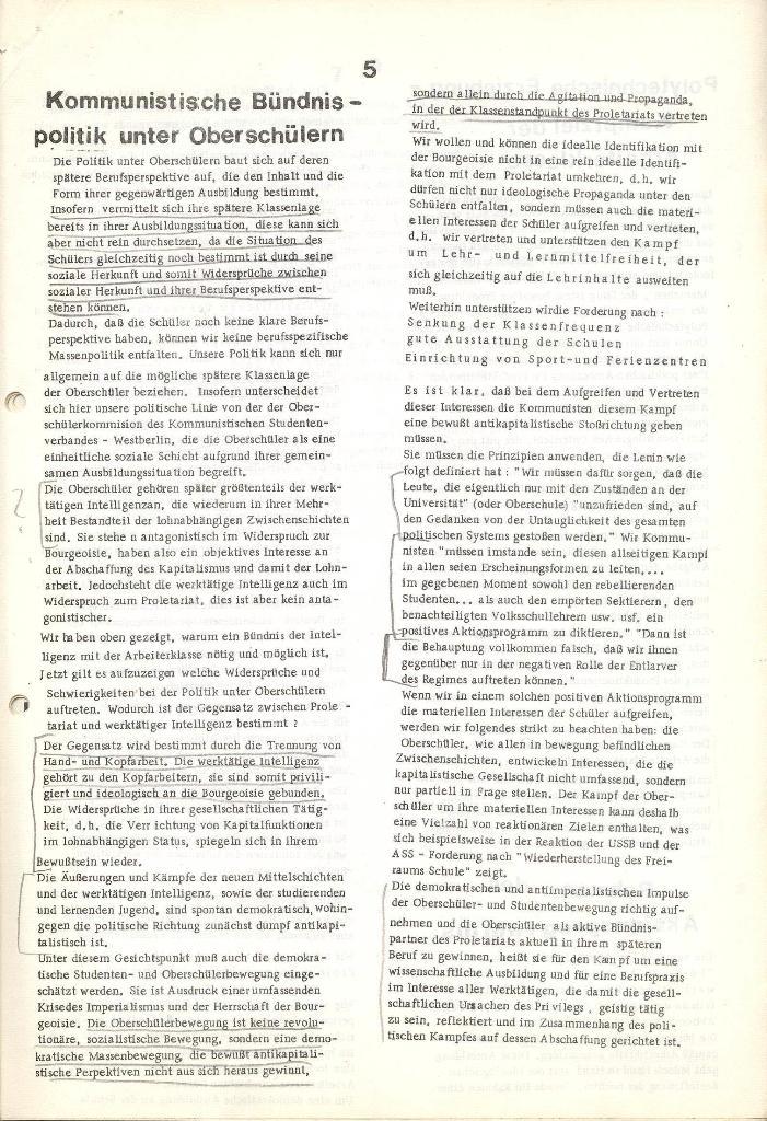 Programmatische Erklärung der KSF,Göttingen, 23.11.1971, Seite 5