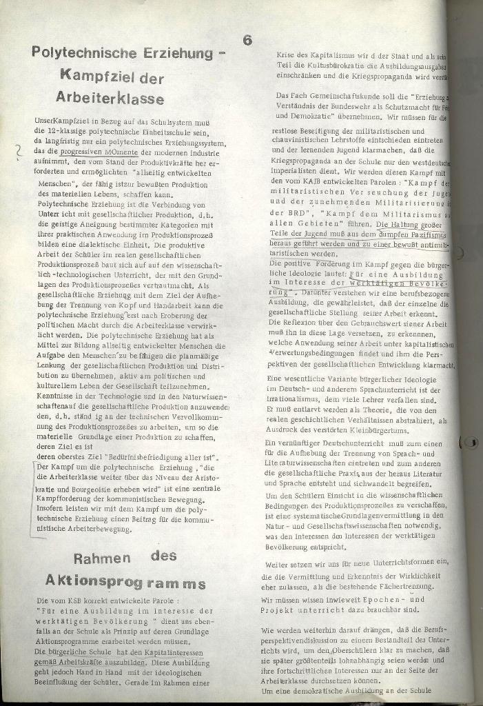 Programmatische Erklärung der KSF,Göttingen, 23.11.1971, Seite 6