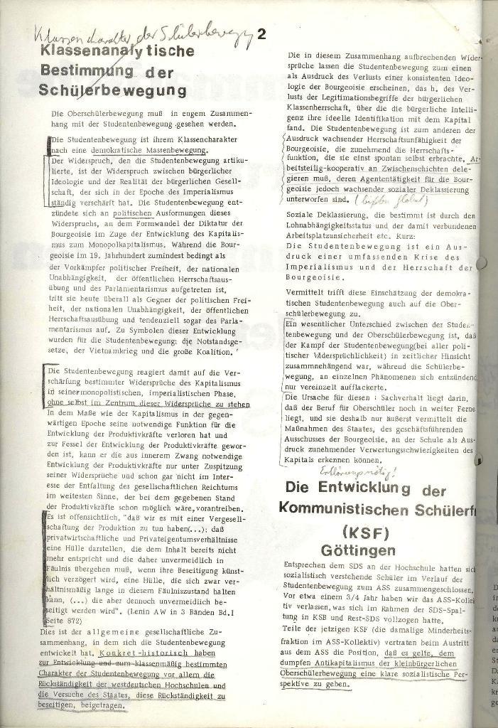Programmatische Erklärung der KSF,Göttingen, 12.12.1971, Seite 2