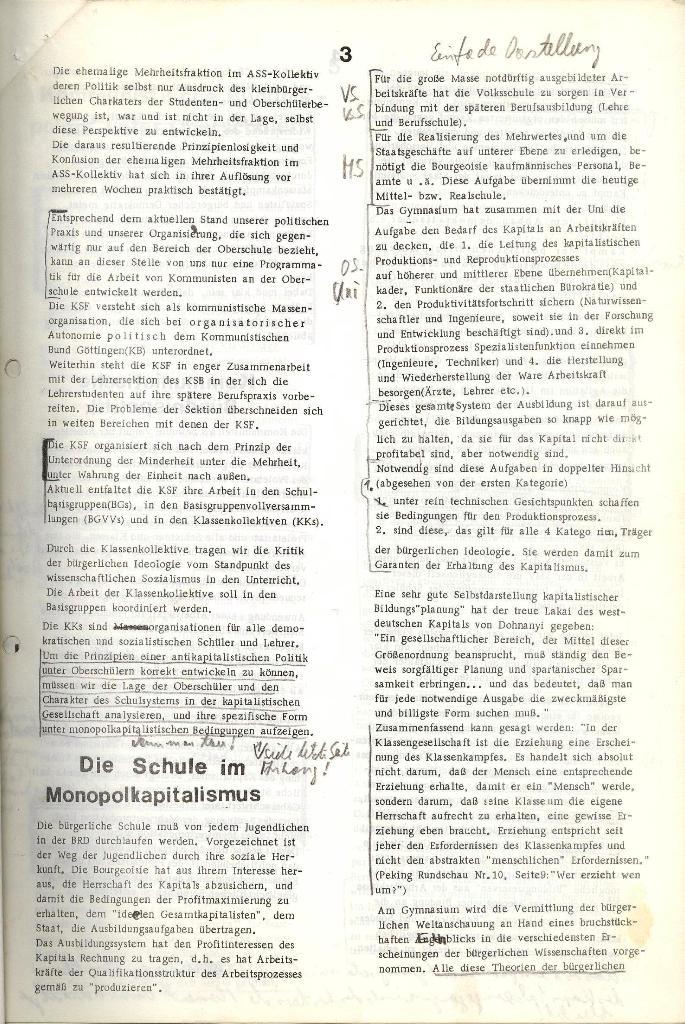 Programmatische Erklärung der KSF,Göttingen, 12.12.1971, Seite 3